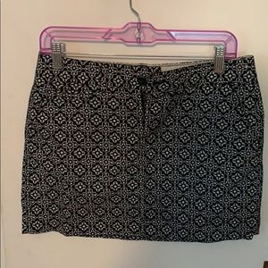 Quatrefoil Miniskirt
